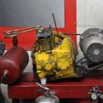 Compressor feito com meio motor de fusca